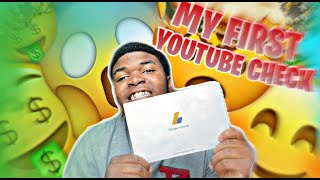 My First YouTube Check| How Much I Made!!