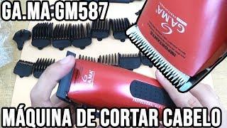 2449d923b Maquina de cortar cabelo GAMA Italy GM587 plus - Unboxing e primeiras  impressões ...