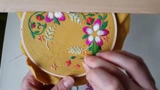 Satin stitch and silk shading (long and short stitch)
