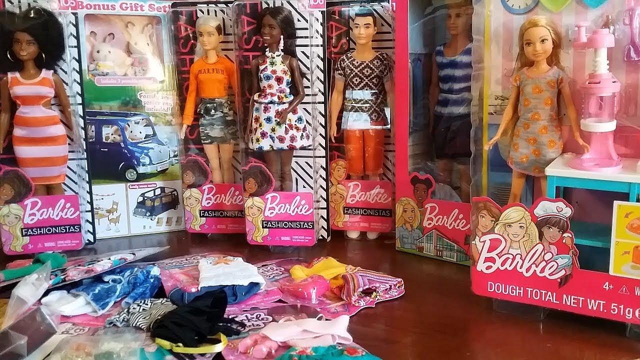 2019 Barbie Fashionistas Toy Haul Calico Critters Barbie