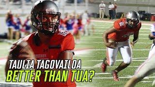 Will Taulia Tagovailoa Be BETTER THAN TUA!? Taulia GOES OFF In Clutch Win 🔥