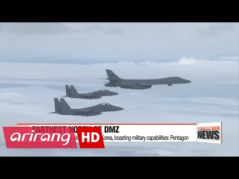 U.S. bombers fly north of DMZ in show of force