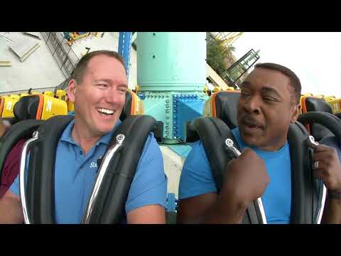 Tony McEwing takes on new 'Crazanity' ride at Six Flags Magic Mountain