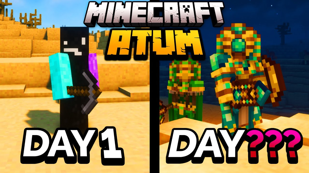 Download I Spent 100 Days in the Atum Dimension in Minecraft... Here's What Happened...