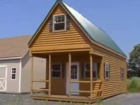 Video brochure log cabin shed 2 story youtube for 2 story barn house