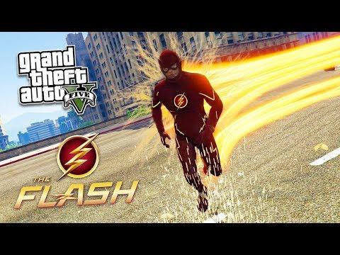 GTA 5 The Flash Mod - Khi Flash đến Los Santos và trộm tiền ngân hàng | ND Gaming
