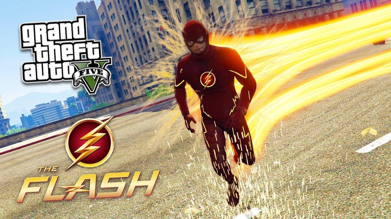 GTA 5 The Flash Mod – Khi Flash đến Los Santos và trộm tiền ngân hàng   ND Gaming