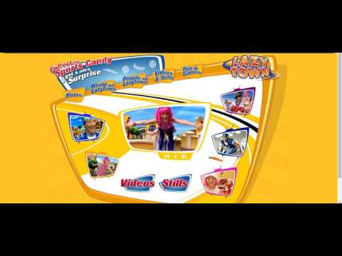 some lazytown songs but recorded on the lazytown website with wayback machine