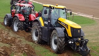 Dragging Machines - Tractor in action Case IH + Fastrac + McCORMICK + Same