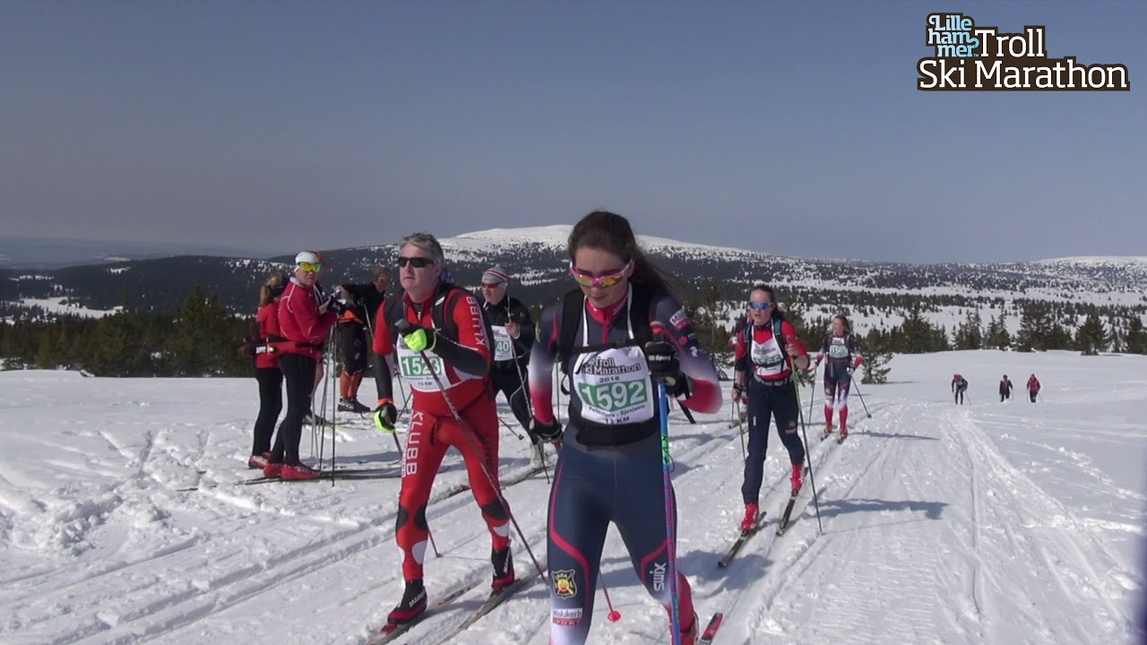 Lillehammer Troll Ski  Marathon 2018 - kortdistansen 13 km Pellestova - Sjusjøen