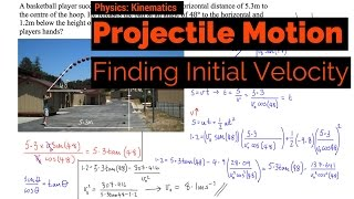 Projectile Motion - Finḋing Initial Velocity
