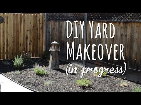 DIY yard makeover – front yard before and after with drought tolerant plants