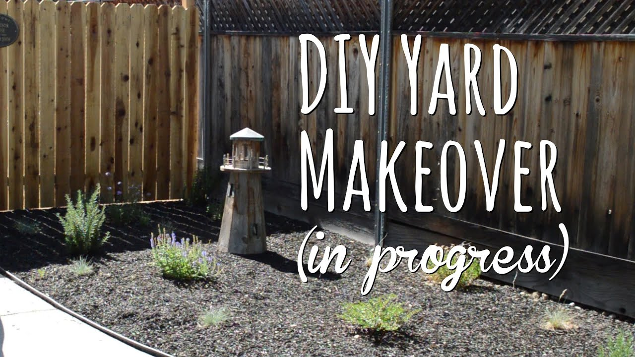 Diy Yard Makeover Front Before And After With Drought Tolerant Plants