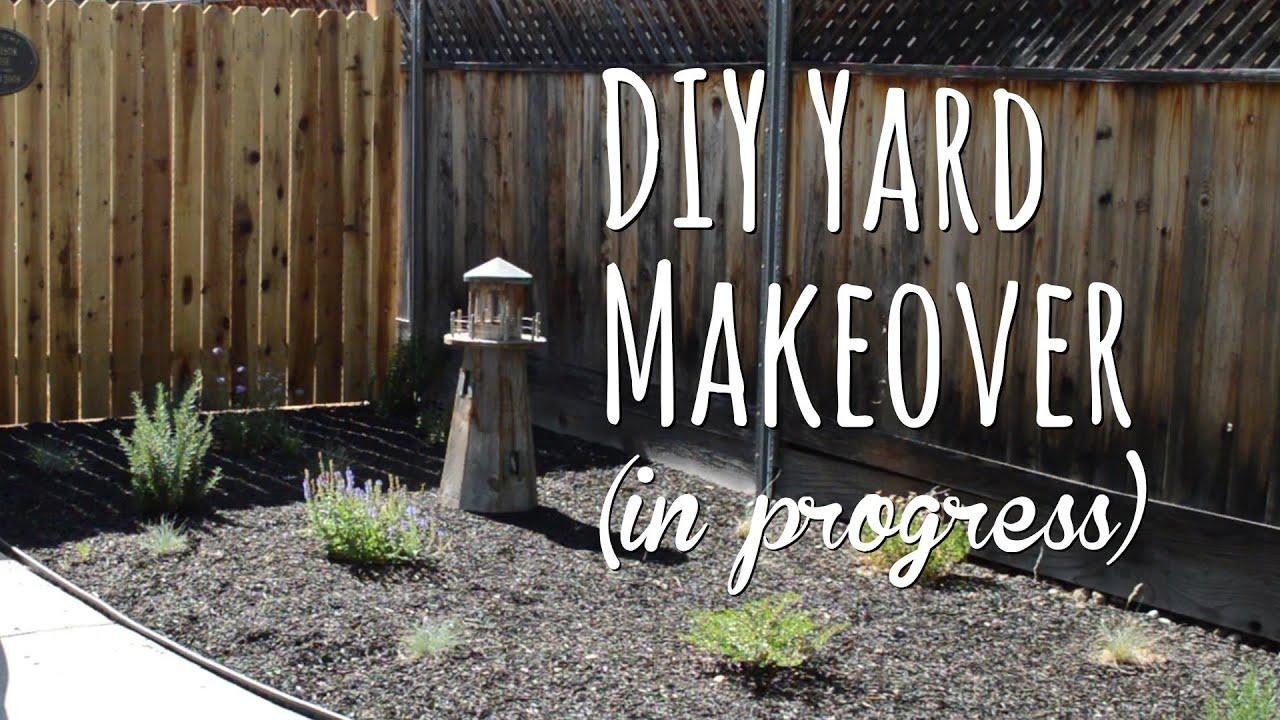 diy yard makeover - front