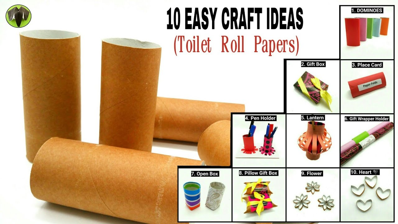 10 easy craft ideas from toilet roll papers