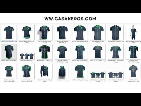 Descarga - Mega Pack - Template Camiseta De Fútbol - 24 HD PSD
