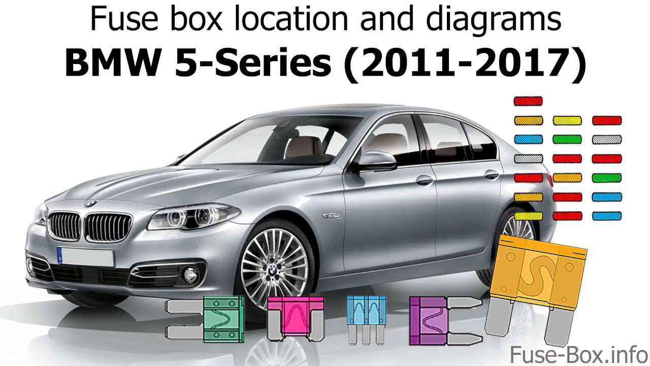 fuse box location and diagrams bmw 5 series 2011 2017  [ 1280 x 720 Pixel ]