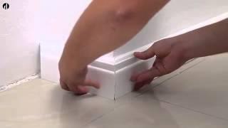видео Плинтус напольный широкий