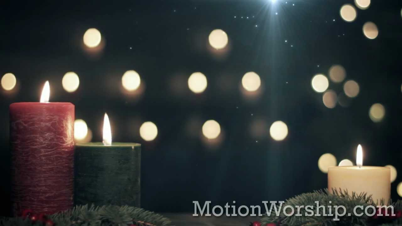 Red Green Pillar Candles Hd Christmas Motion Background