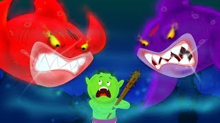 Scary Flying Sharks | Shark Song | Scary Nursery Rhymes | Videos For Kids