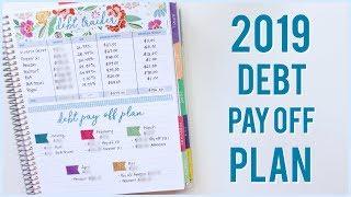 My 2019 Debt Pay Off Plan - Debt Snowball Method | Romina Vasquez