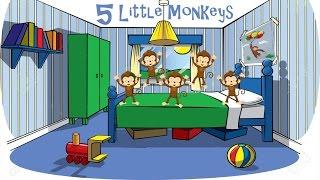 5 Little Monkeys | Kids Songs | Picaboo