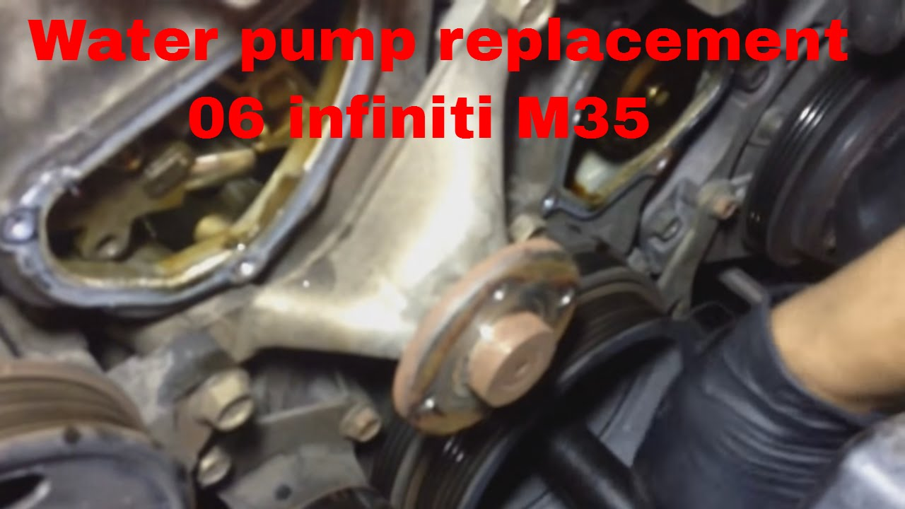 High Quality Water Pump Replacement 06 Infiniti M35   YouTube Great Pictures
