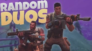 RANDOM DUOS! - Fortnite Duos Adventures w/ Pedro - PS4 Fortnite Duos Gameplay LIVE!