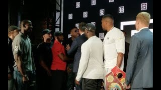 BREAKING NEWS! JARRELL MILLER PUNKS ANTHONY JOSHUA IN NEW YORK AT POVETKIN PRESS CONFERENCE!