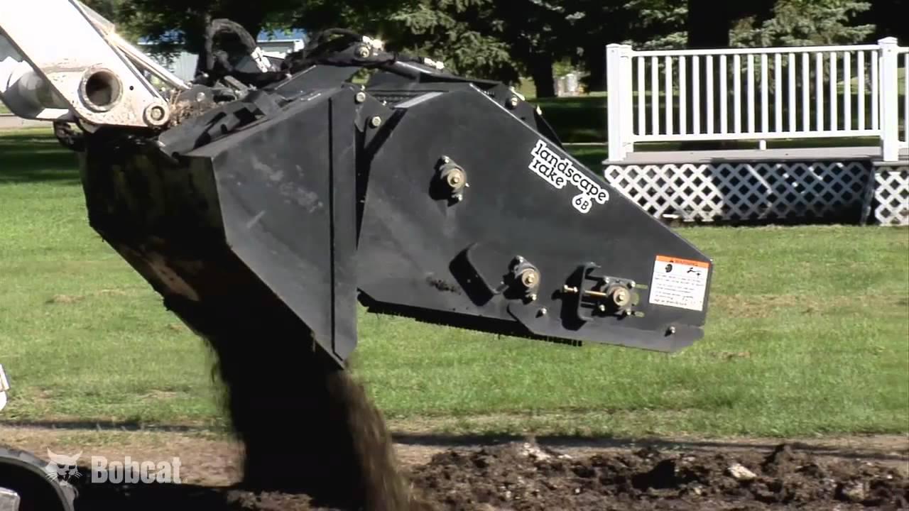 Landscape Rake For Bobcat : Bobcat landscape rake