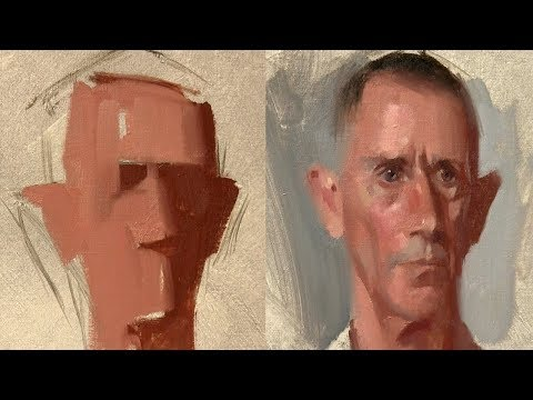 Portrait Painting From Life by Alex Tzavaras