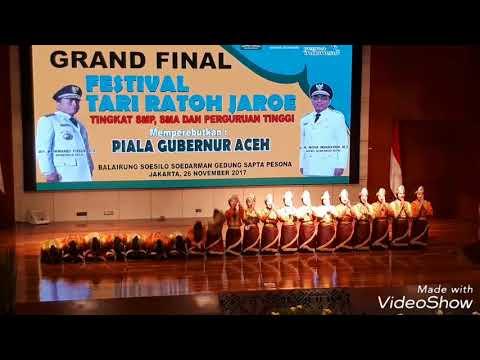 SMPN 19 Jakarta - Juara 1 Festival Tari Ratoh Jaroe Piala Bergilir Gubernur Aceh 2017 Kategori SMP