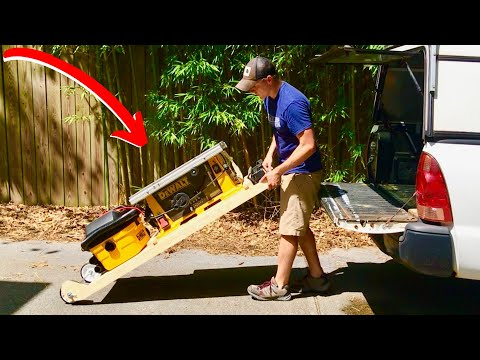 AWESOME ROLLING TABLE SAW CART! (DIY How To Build)