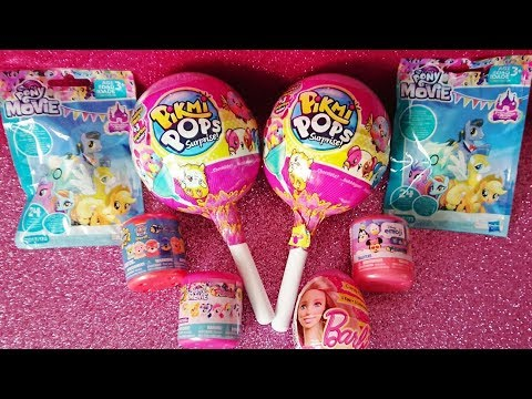 My Little Pony Pikmi Pops Giant Lollypop surprise eggs blind bags unboxing Mashems