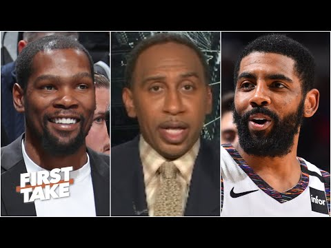Stephen A. predicts the Nets will be a top-3 team in the East when KD & Kyrie return | First Take