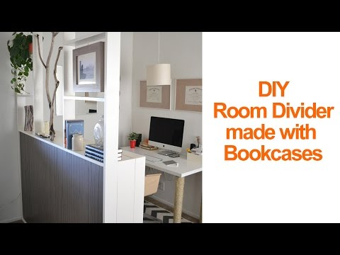How to make a temporary room divider with IKEA Billy bookcases to create a home office