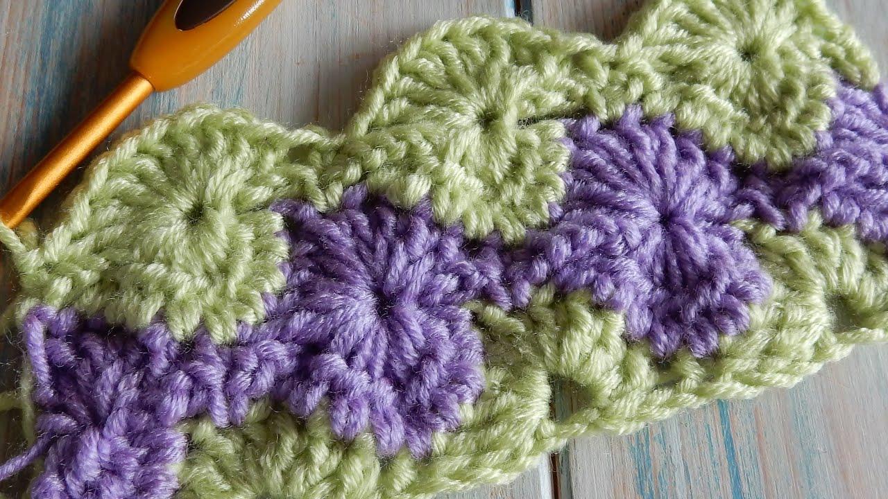 How To Crochet Catherine Wheel Starburst Stitch Youtube