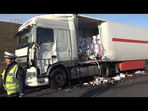 18.12.2018 - VN24 - Rotwein Für Weihnachten Landete Nach Unfall Auf Der Autobahn A1
