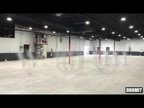 Epoxy Removal and Concrete Grinding Using HTC Duratiq RX8 and RX6. 10,000 SQFT done in 20 hours.