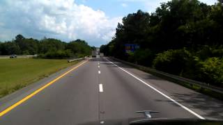 Interstate 65 North entering the State of Tennessee