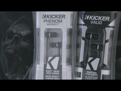Kicker Phenom VS Kicker Valid Earbud Shootout