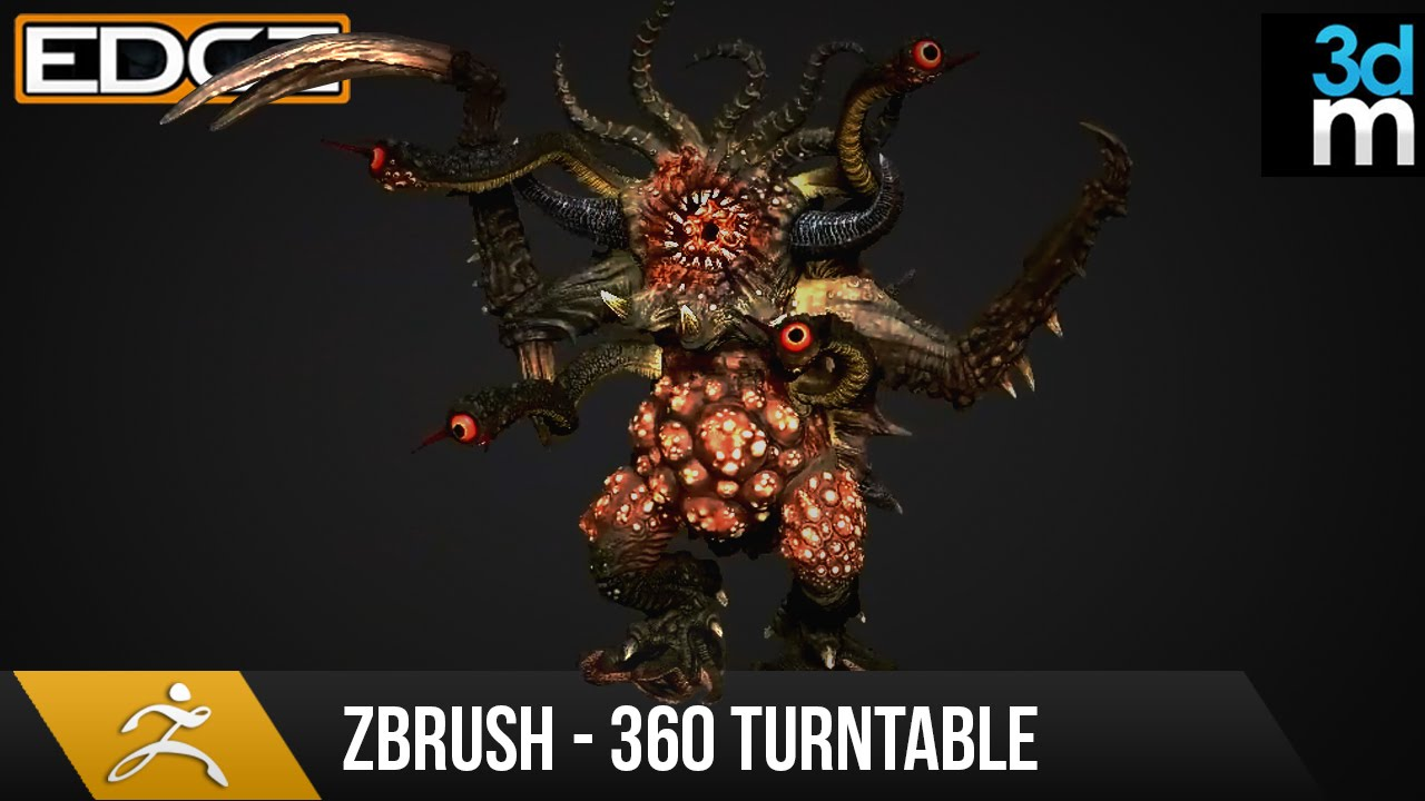 Zbrush Tutorial – Render a 360 Turntable for your Sculpts HD
