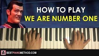 HOW TO PLAY - We Are Number One - The Living Tombstone Remix [Lazytown] (Piano Tutorial Lesson)