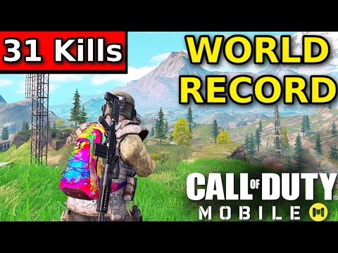 "Call Of Duty Mobile ""31 KILL WORLD RECORD"" Battle Royale 
