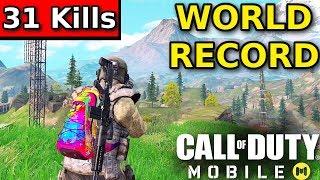 "Call of Duty Mobile ""31 KILL WORLD RECORD"" Battle Royale   Call of Duty Mobile Battle Royale"