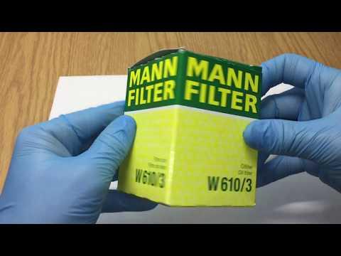 Фильтр Mann 610/3 как отличить подделку от оригинала