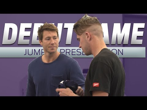 Luke Ryan presented with debut jumper