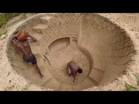 Копать, чтобы построить лучший секретный бассейн подземный дом