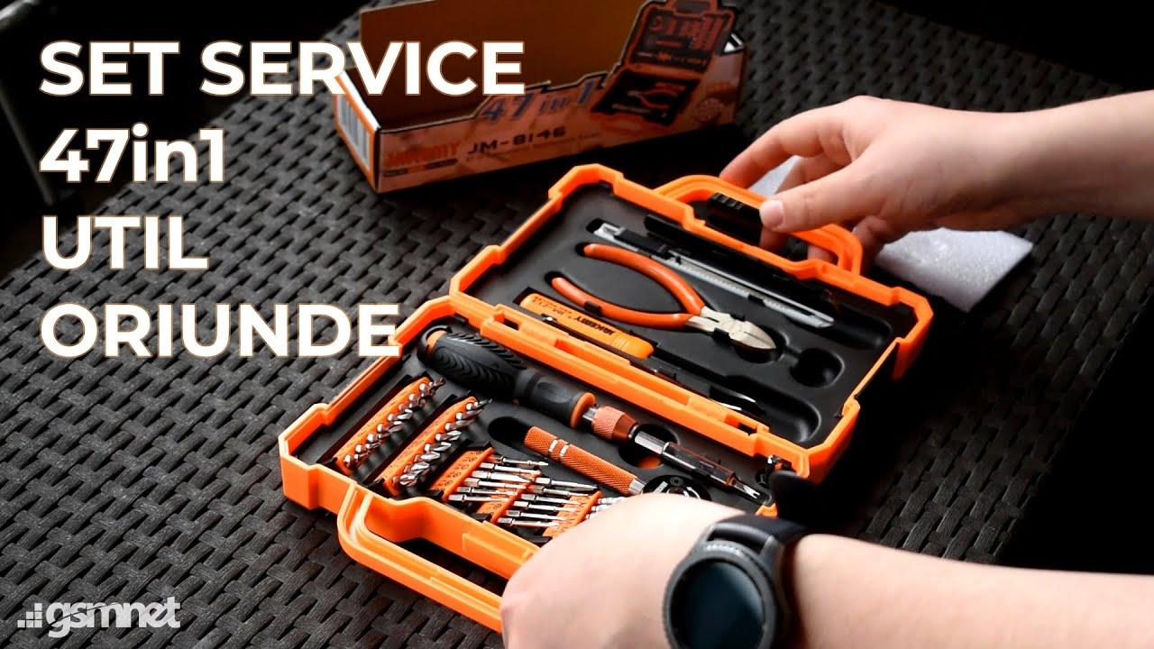 Cauti un set service pe care sa il folosesti oriunde? Iti recomand Jakemy 47in1!