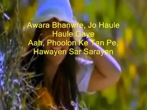 Awaara Bhanwara ( Sapnay ) Free karaoke with lyric by Hawwa -